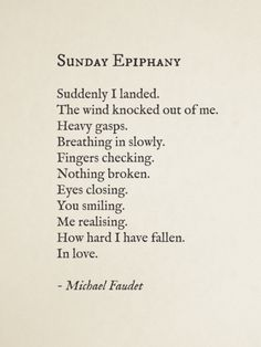 Sunday Epiphany by Michael Faudet