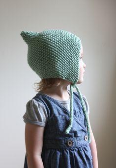 Ravelry: Knit Pixie Bonnet Pattern - Baby Bonnet Pattern - Hat Pattern - Knit…