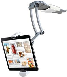 iPad & Tablet 2-in-1 Kitchen Mount Stand