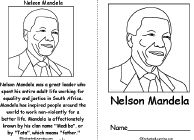Nelson Mandela Connect-the-Dots: EnchantedLearning.com