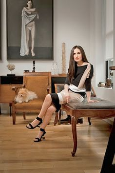"""Rachel Shorr in her """"Atelier Demiurge"""" , New York . Rachel is the niece of the charismatic and talented antique dealer Amy Perlin, who died in 2010."""