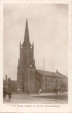 The Cleveland and Teesside Media Archive - St Hilda's Parish Church, Middlesbrough Middlesbrough, Boro, Cathedrals, Old Photos, Yorkshire, Cleveland, Barcelona Cathedral, Taj Mahal, Period