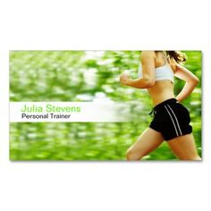 Personal Trainer business card. This is a fully customizable business card and available on several paper types for your needs. You can upload your own image or use the image as is. Just click this template to get started!