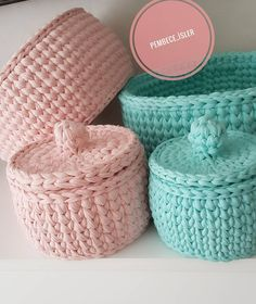 The most beautiful Crochet basket and straw models Diy Crochet Basket, Crochet Bowl, Crochet Basket Pattern, Love Crochet, Crochet Gifts, Beautiful Crochet, Knit Crochet, Crochet Patterns, Crochet Granny