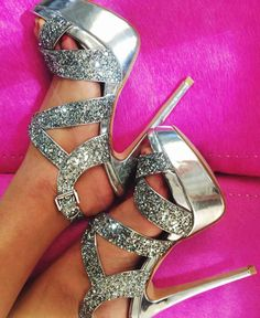 Glitter heels--> a bit much, maybe a toned down version?