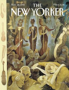 """The New Yorker - Monday, November 22, 1993 - Issue # 3586 - Vol. 69 - N° 39 - Cover """"Plugged In"""" by """"Ceesepe"""" - Carlos Sánchez Pérez"""