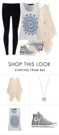"""""""Random#5672014"""" by cfull ❤ liked on Polyvore featuring MANGO, Daisy Jewellery and Converse"""