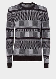 Versace Afritan Knit Sweater for Men Military Pants, Pullover Designs, Versace Men, En Stock, Men's Collection, Pulls, Knitwear, Men Sweater, Mens Fashion