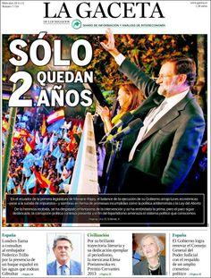 Los Titulares y Portadas de Noticias Destacadas Españolas del 20 de Noviembre de 2013 del Diario La Gaceta ¿Que le pareció esta Portada de este Diario Español?