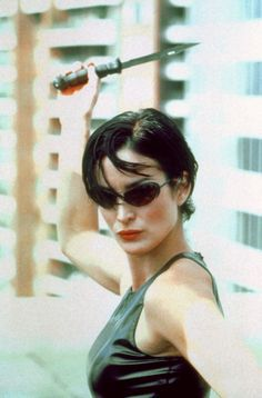 Trinity Matrix, The Matrix Movie, Carrie Anne Moss, Matrix Hair, The Best Films, Poses, Keanu Reeves, Looks Cool, Hair Inspo