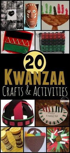 20 Kwanzaa Crafts & Kids Activities to celebrate Kwanza in December around Christmas - includes history, and clever ideas for a theme or unit study for families, elementary age kids, homeschool, etc. #kwanza #kwanzaa #christmas #craftsforkids #123homeschool4me