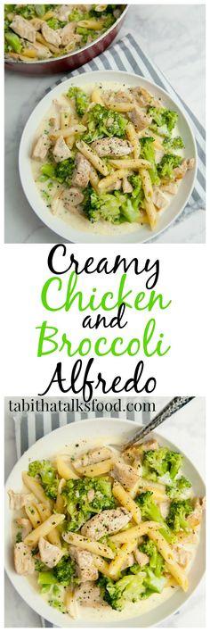 This delicious creamy chicken and broccoli alfredo is made with chicken breast, heavy cream, milk, mozzarella cheese, broccoli, and your favorite pasta!