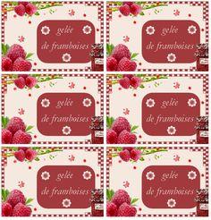 Etiquettes pour Gelée de framboise - Carterie Bilitis