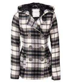 Hooded Plaid Coat from Aeropostale