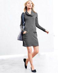 zinni™ by Garnet Hill Cowl-Neck Sweater Dress
