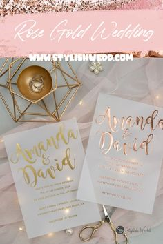 ROSE GOLD luxury modern custom foil wedding invitation suites on vellum paper SWFI003 #wedding#weddinginvitations#stylishwedd#stylishweddinvitations #vellumweddinginvitations