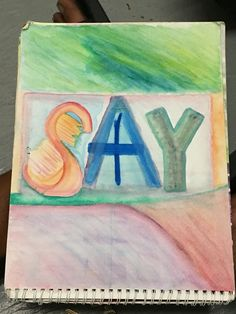 """""""Say."""" / Stay. 9x12. NYC 2013. By U.S. for Parts Of How and Allthentic Records. Nyc, Sayings, Painting, Lyrics, Painting Art, Paintings, Painted Canvas, New York, Drawings"""