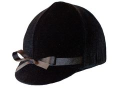 Turn your old helmet into a fancy Dressage helmet with this Black Velvet stretch helmet cover.