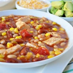 Speedy Chicken Chili Soup