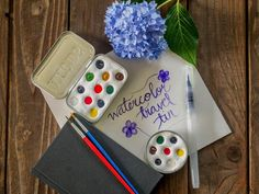 Repurpose a metal mint tin into a travel watercolor tin for an easy way to carry your art supplies when out and about >> http://www.diynetwork.com/made-and-remade/make-it/watercolor-travel-tin?soc=pinterest