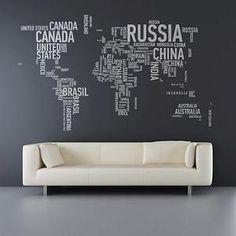 world wall sticker
