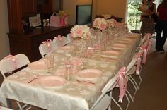 Pink Toile Baptism Party Ideas | Photo 2 of 2 | Catch My Party
