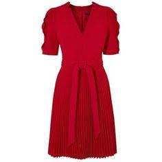 Karen Millen 24HR Crepe Dress, Red