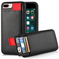 iPhone 7 Plus Wallet Case, iPhone 8 Plus Wallet Case, LAMEEKU Protective iPhone 8 Plus Card Holder Case with Credit Card Slot, Leather Cover for Apple iPhone 7 Plus/ 8 Plus Black Iphone 6, Iphone 8 Plus, Best Iphone, Iphone Wallet Case, Iphone Cases, Apple Iphone, Iphone Leather Case, Clutch Wallet, E Mobility
