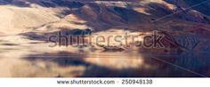 Tso Moriri lake and Himalayas mountains magic panorama (Ladakh, India)