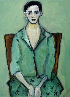Abstract Art Figure Figurative Portrait Giclee Print Colette