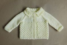 Danika means Morning Star (this design uses a version of star stitch) Danika Baby Jacket ~ with a Collar Danika Baby Jacket ~ without a Collar Danika Baby Jacket Requirements ~ DK yarn Source by lynleyharlen Jacket Baby Cardigan Knitting Pattern Free, Baby Sweater Patterns, Knit Baby Sweaters, Easy Knitting, Baby Knitting Patterns, Baby Patterns, Crochet Patterns, Vogue Patterns, Vintage Patterns