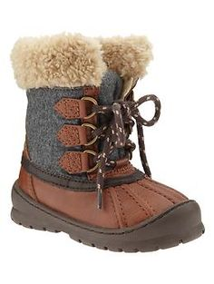Lace-up duck boots | Baby Gap Scarborough Town Centre. #infant #boots