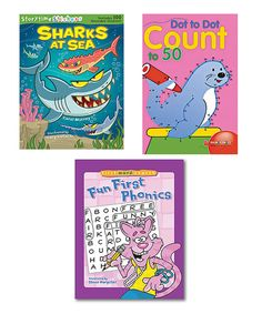 Look at this #zulilyfind! Shark Stickers, Dot-to-Dot & First Phonics Activity Set by Sterling #zulilyfinds