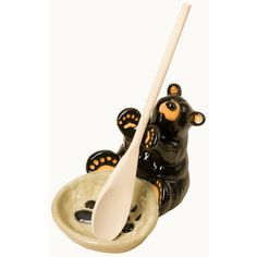 Take It Off The Dirty Counter And Put In On This Cute Black Bear Spoon  Holder. This Creative Piece Of Functional Decor Is ...