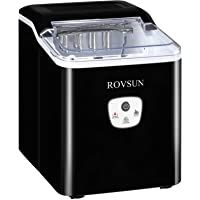 ROVSUN Ice Maker Machine Countertop Make 26lbs Ice in 24 Hours Compact & Portable Ice Maker with Ice Basket for Home Office Kitchen Bar (Black) #13 ROVSUN Ice Maker Machine Countertop Make 26lbs Ice in 24 Hours Compact & Portable Ice Maker with Ice Basket for Home Office Kitchen Bar (Black) 5.0 out of 5 stars 3 $94.99 - $96.99 Best Appliances, Making Machine, Coffee Shop, Countertops, Compact, Basket, Ice, Black 7, Kitchen