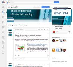 Präsenz der mycon GmbH in Google +