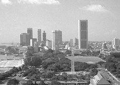 Singapore skyline 1970s