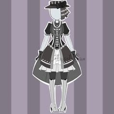 (please read this -->Rules) (must reply to the last bid) CLOSED WAIT. Pretty Outfits, Beautiful Outfits, Cool Outfits, Dress Outfits, Dress Drawing, Drawing Clothes, Mad Hatter Costumes, Clothes Pictures, Kawaii Anime Girl