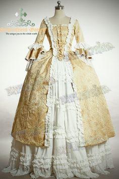 fanplusfriend - Victorian Rococo Lolita Square Neckline Ball Dress*Floor Length, Brocade, C$202.92 (http://www.fanplusfriend.com/victorian-rococo-lolita-square-neckline-ball-dress-floor-length-brocade/)