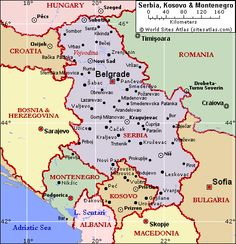 map of serbia - Google Search