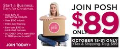 Join now for only $89.00 plus you get $270.00 in free products!  Only til 10/31/14  www.perfectlyposh.com/poshlydiana