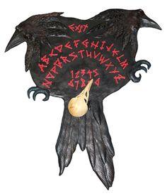 Raven Spirit Board, Ouija Board, qvermar_quoththeraven