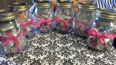 Mason jar door prizes for a breast cancer event