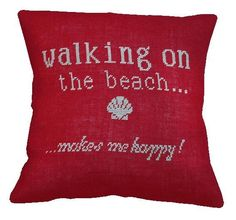 SUMMER cushion Beach Pillow Cover PDF Pattern by anetteeriksson, $7.50