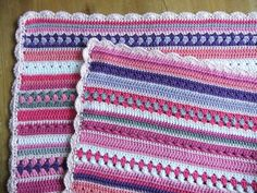 roze-babydekentje Baby Afghans, Baby Blanket Crochet, Crochet Blankets, Manta Crochet, Knit Crochet, Crochet Afghans, Blanket Scarf, Crochet Scarves, Beautiful Crochet