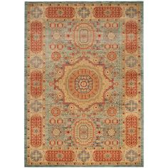 Mahal Navy/Red (Blue/Red) 6 ft. 7 in. x 9 ft. 2 in. Area Rug