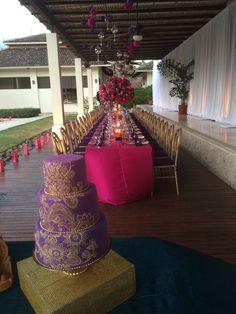 Indian Wedding.  Purple Wedding Cake