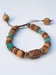 Man Bracelet  Natural Bracelet  Genuine Turquoise  by TaikaEarth, £26.00