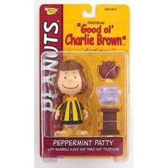 """Up for purchase is a 2002 Peanuts """"Good Ol' Charlie Brown"""" Peppermint Patty Action Figure by Memory Lane. The Peanuts Peppermint Patty Action Figure by Memory Lane. Peppermint Patty Good Ol Charlie Br"""