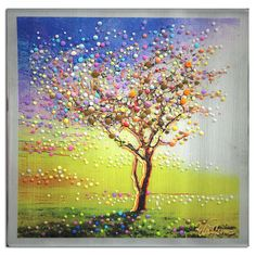 Image of The Peace Tree -  Original Painting - Find peace in yourself and change the world.